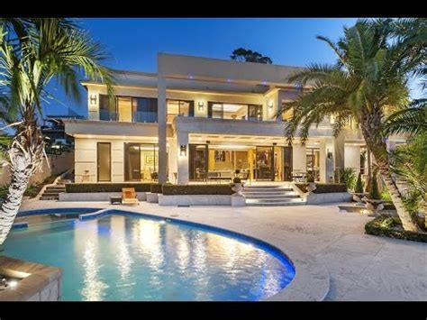 immaculate waterfront mansion  sydney australia youtube