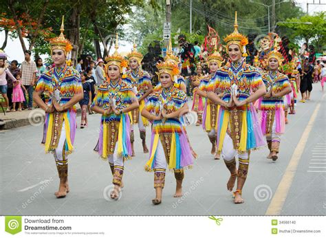 traditional dance manora in lak phra tradition editorial