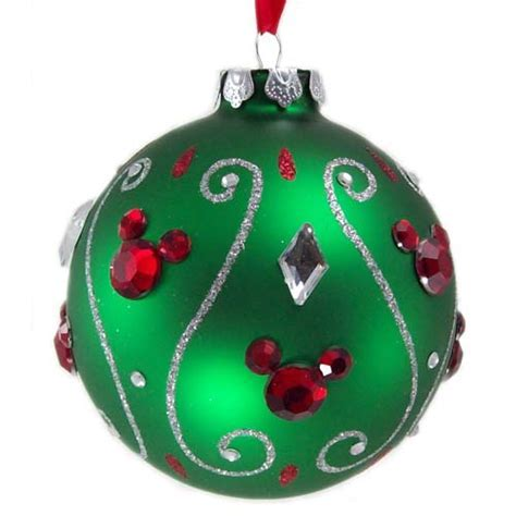 Your WDW Store  Disney Christmas Ornament   Green Ball