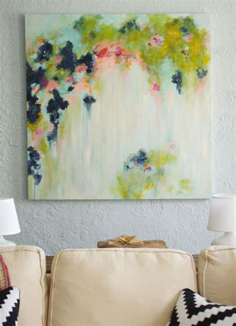 Painting Handmade - my diy abstract and new shower curtain fabric