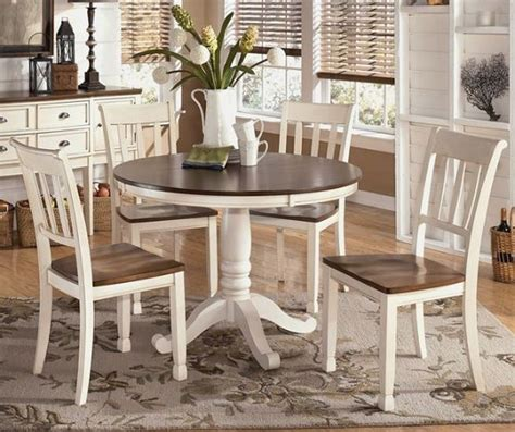 white and brown kitchen table white brown farmhouse dining table robertson