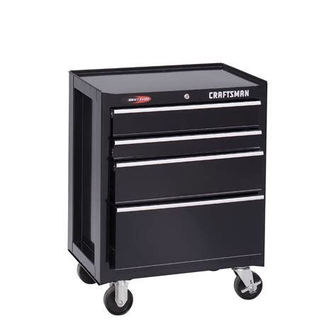 craftsman black 4 drawer tool chest craftsman 26 1 2 quot 4 drawer quiet glide roll away tool