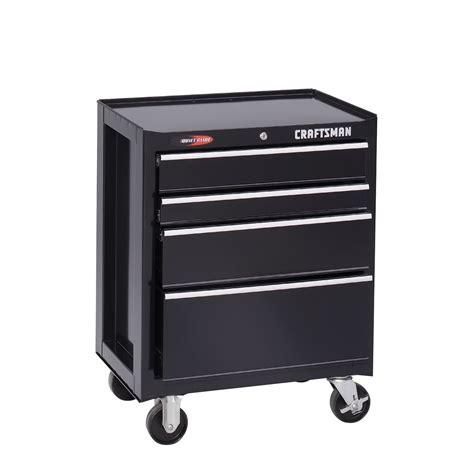 craftsman 2 drawer black tool box craftsman 26 1 2 quot 4 drawer quiet glide roll away tool