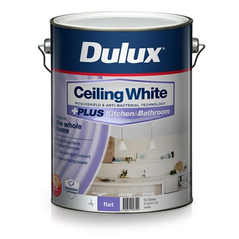 dulux bathroom paint price dulux white ceiling plus kitchen and bathroom paint 10l