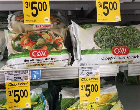 c w vegetables c w vegetables coupons pay 0 67 safeway