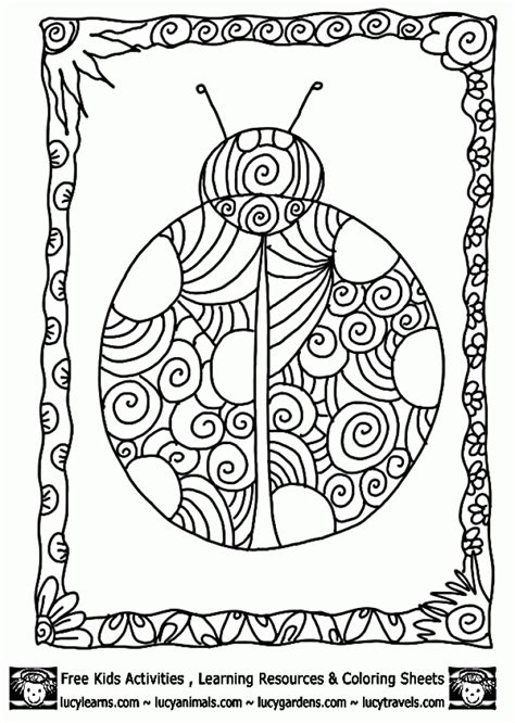 abstract coloring pages pinterest beautiful ladybug doodle art coloring page for adults