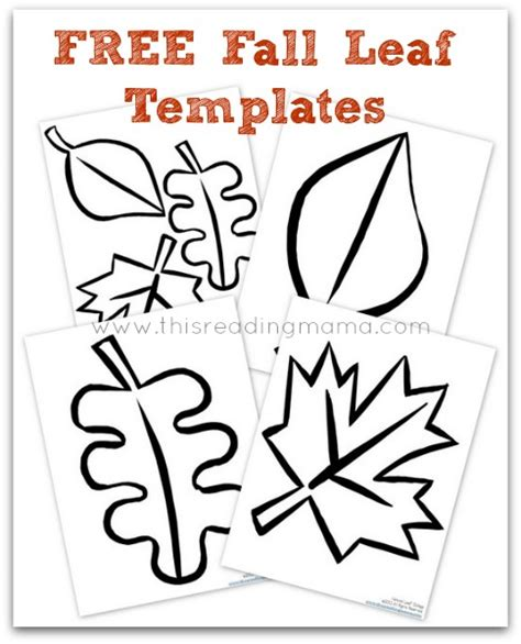 autumn leaf template free printables fall leaf collages free printable included