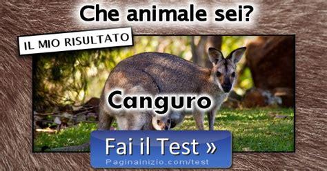 test animale sei risultato test animale sei canguro
