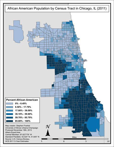 chicago ethnicity map demographics of chicago
