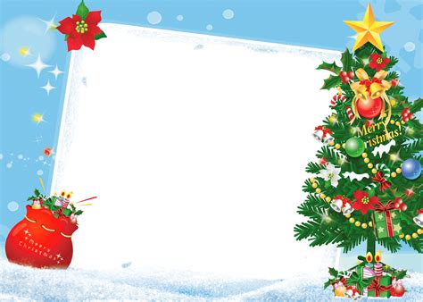 merry christmas frame tree gifts transparent png stickpng