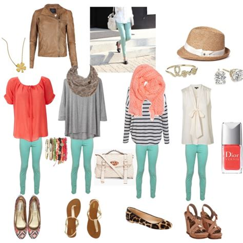 everyday for mint green jeggings polyvore