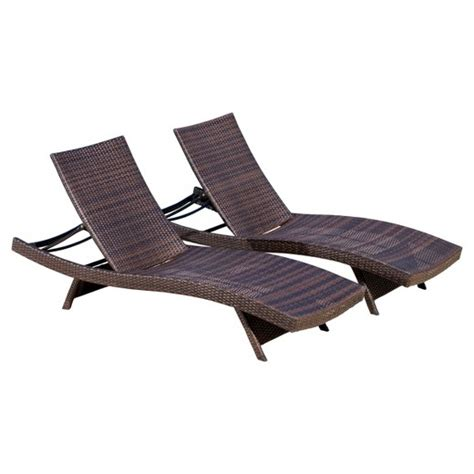 lounge chairs target set of 2 wicker adjustable chaise lounge chair brown