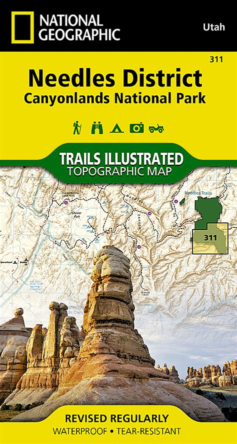 Pdf Canyonlands National Geographic Trails Illustrated needles district canyonlands national park national