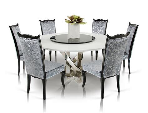Dining Table Set With Lazy Susan A X Spiral Modern White Dining Table With Lazy Susan