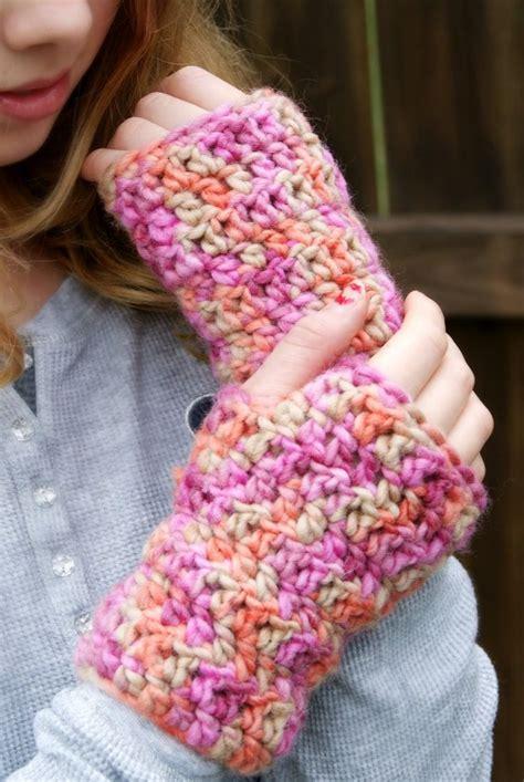 pinterest gloves pattern rakjpatterns bulky fingerless gloves free pattern
