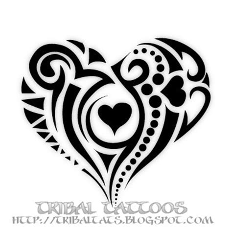 our tattoo 10 unique designs of tribal heart tattoos