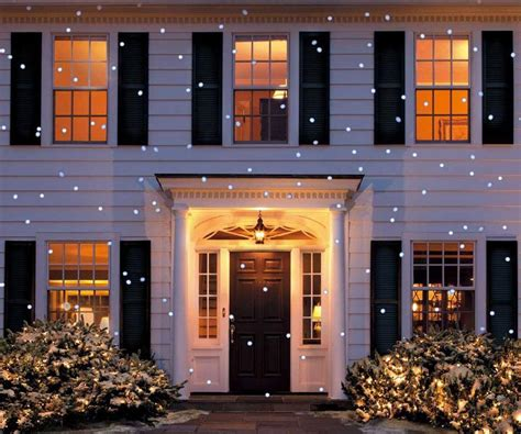 christmas lights projected on house led snow flurry projection light dudeiwantthat
