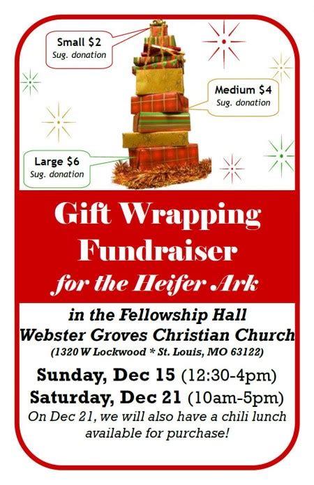 gift wrap fundraising gift wrapping fundraiser for heifer webster groves