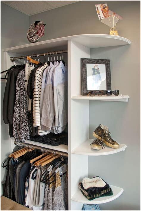 cool  clever diy corner closet ideas