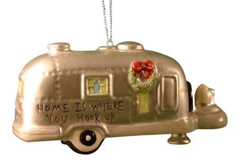 rv ornament silver rv cer trailer cing ornament