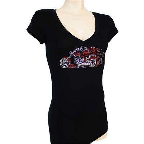 design a rhinestone shirt ladies body fit cotton black t shirt with rhinestone
