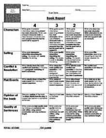 book report rubric 4th grade book report rubric 5th 6th grade pinterest character 4th grade book report rubric best photos of non fiction
