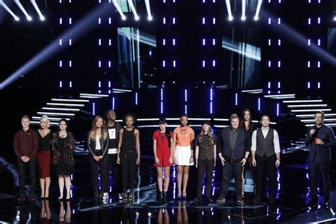 who went home on the voice 2015 last top 12 results