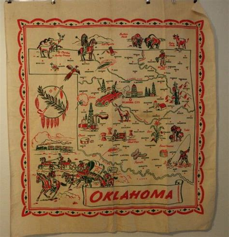 vintage oklahoma map 11 best images about table maps on linen