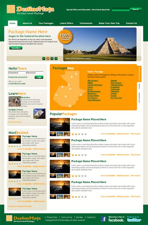 dreamweaver layout templates travel agency dreamweaver templates
