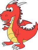 Fairytale Wall Murals clip art of cute red cartoon happy dragon character