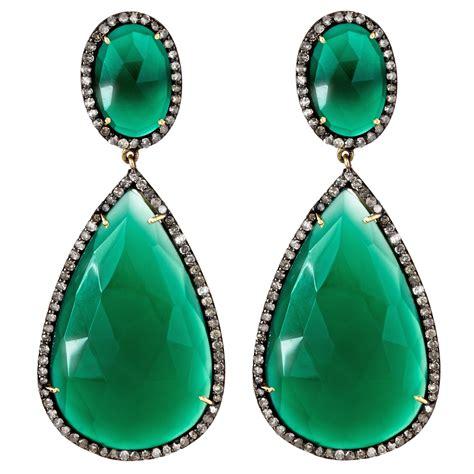 Bed Rugs J Hadley Jewelry Green Onyx Drop Earrings At Aha