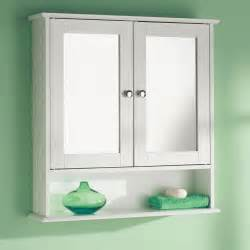 Bathroom Wall Cabinet Shelf Mirror Door Wooden Indoor Wall Mountable Bathroom