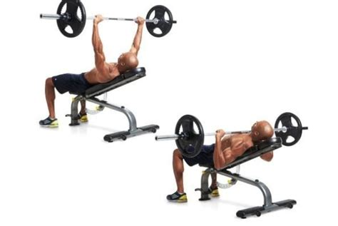 incline bench press dumbbells incline barbell bench press