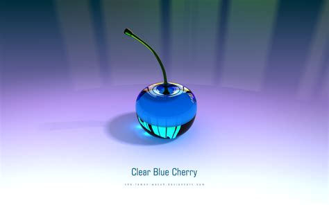 Blue Cherry clear blue cherry 3d glass by the lemon on deviantart