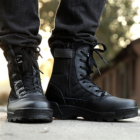 fashion combat boots mens sell retro combat boots winter style