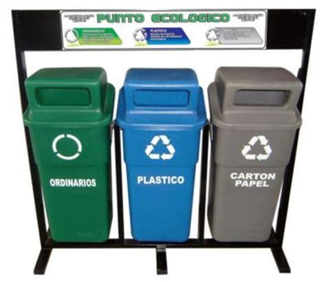 punto ecologico canecas de reciclaje separacion de basuras
