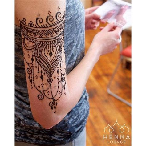 henna tattoo upper arm henna arm makedes
