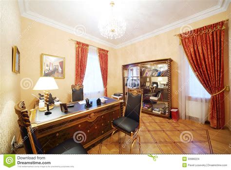 Gilt Home by Leather Chairs And Gilt Table With L In Home Office