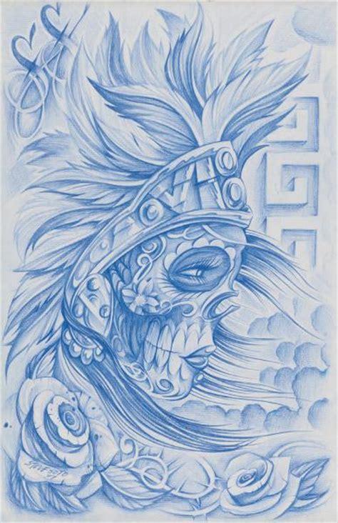 aztec muerta steve soto tattoo designs giclee art print