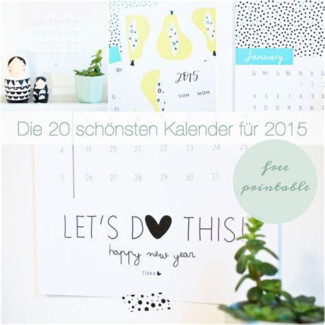 Kalender F R 2015 Die Sch 246 Nsten Kalender F 252 R 2015 Free Printable Pinkepank