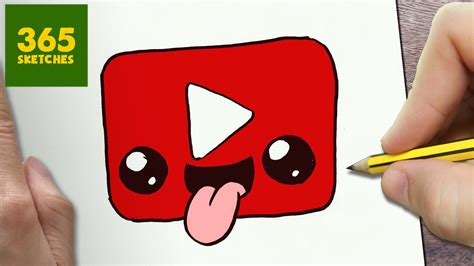 imagenes kawaii youtube how to draw a youtube logo cute easy step by step drawing