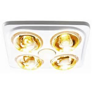 Bathroom Heat Lights Hpm 3 In 1 Bathroom 4 Heat Fan Light White Bunnings Warehouse