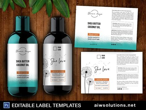 Body Lotion Label Template Id37 Aiwsolutions Lotion Labels Templates