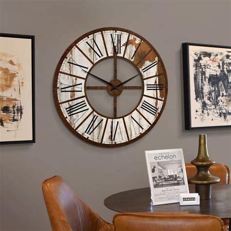 große wanduhren wohnzimmer wanduhr vintage aus hdf 216 70 cm wall de