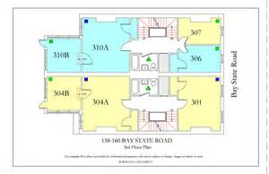 bu housing floor plans 158 160 bay state road 187 housing boston
