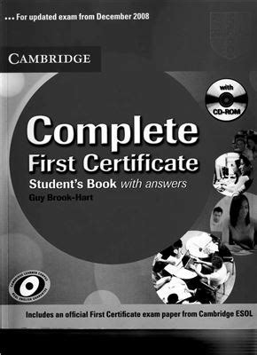 complete first students book brook hart guy complete first certificate student s book with answers все для студента