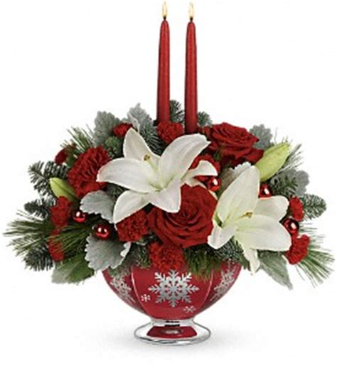 christmas centerpieces delivered flowers delivery shawnee ok floral