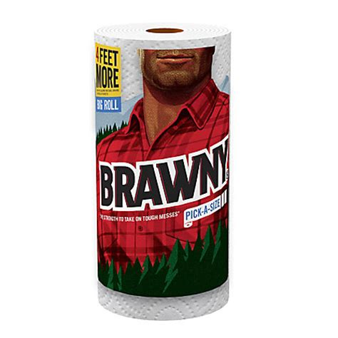 Who Makes Brawny Paper Towels - brawny a size paper towels 2 ply 94 sheets per roll