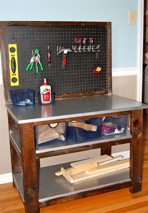 building a tool bench ana white bigger kids workbench diy projects