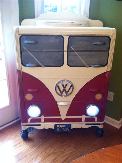 vw bedroom accessories items similar to vw bus dresser waterfall chest of